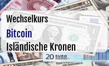 Bitcoin in Isländische Kronen