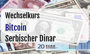 Bitcoin in Serbischer Dinar