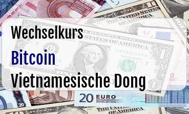 Bitcoin in Vietnamesische Dong