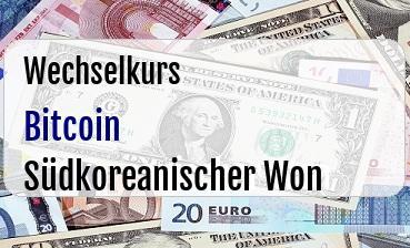 Bitcoin in Südkoreanischer Won