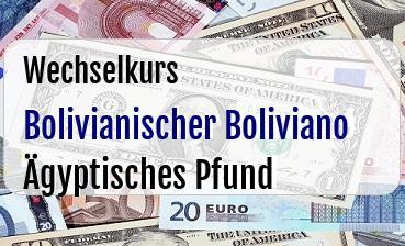 Bolivianischer Boliviano in Ägyptisches Pfund