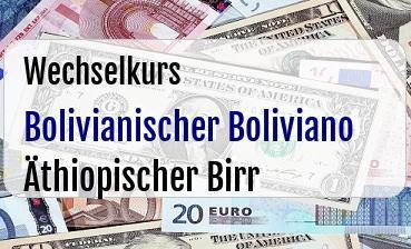 Bolivianischer Boliviano in Äthiopischer Birr