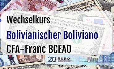 Bolivianischer Boliviano in CFA-Franc BCEAO