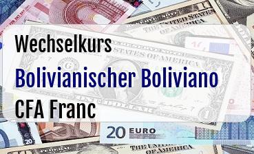 Bolivianischer Boliviano in CFA Franc