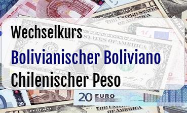 Bolivianischer Boliviano in Chilenischer Peso