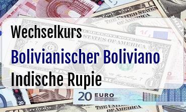 Bolivianischer Boliviano in Indische Rupie