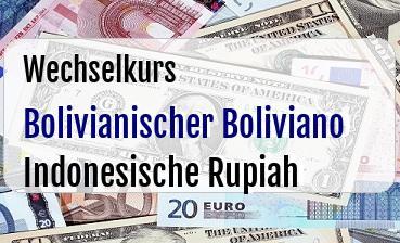 Bolivianischer Boliviano in Indonesische Rupiah