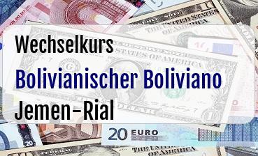 Bolivianischer Boliviano in Jemen-Rial