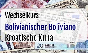 Bolivianischer Boliviano in Kroatische Kuna