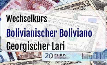 Bolivianischer Boliviano in Georgischer Lari