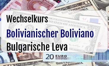 Bolivianischer Boliviano in Bulgarische Leva