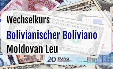 Bolivianischer Boliviano in Moldovan Leu