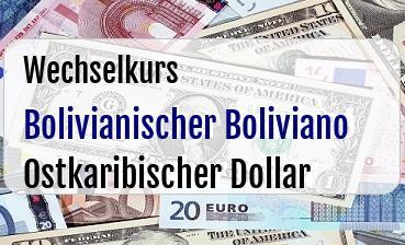Bolivianischer Boliviano in Ostkaribischer Dollar
