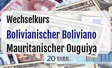 Bolivianischer Boliviano in Mauritanischer Ouguiya