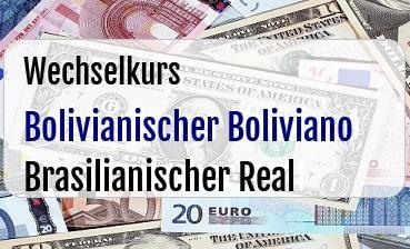 Bolivianischer Boliviano in Brasilianischer Real