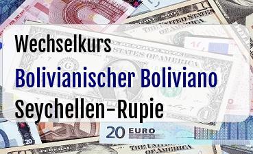 Bolivianischer Boliviano in Seychellen-Rupie