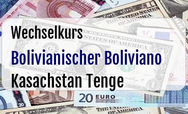 Bolivianischer Boliviano in Kasachstan Tenge