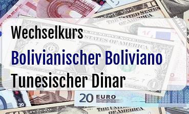 Bolivianischer Boliviano in Tunesischer Dinar