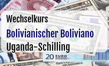 Bolivianischer Boliviano in Uganda-Schilling