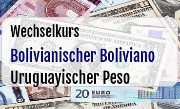 Bolivianischer Boliviano in Uruguayischer Peso