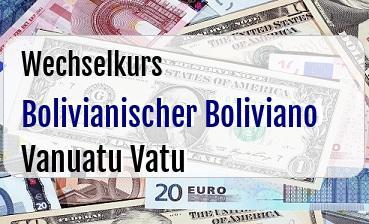 Bolivianischer Boliviano in Vanuatu Vatu