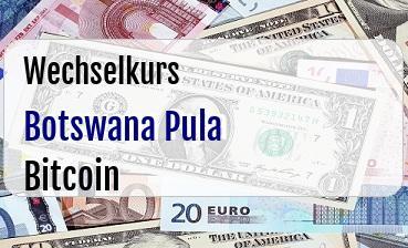Botswana Pula in Bitcoin