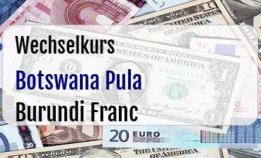 Botswana Pula in Burundi Franc