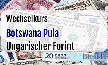 Botswana Pula in Ungarischer Forint