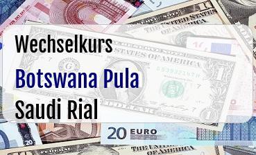 Botswana Pula in Saudi Rial