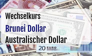 Brunei Dollar in Australischer Dollar