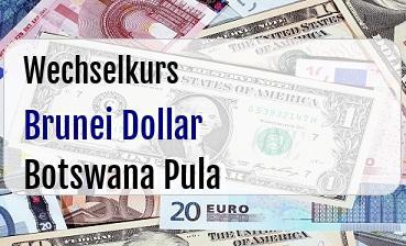 Brunei Dollar in Botswana Pula