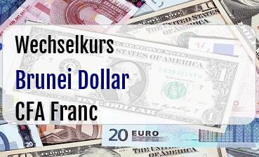 Brunei Dollar in CFA Franc