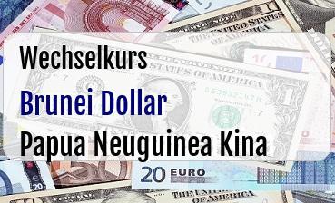 Brunei Dollar in Papua Neuguinea Kina