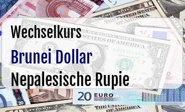 Brunei Dollar in Nepalesische Rupie