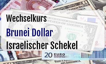 Brunei Dollar in Israelischer Schekel
