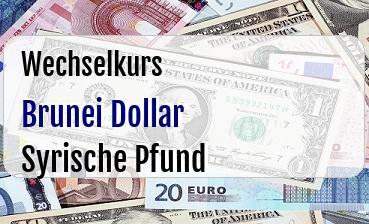 Brunei Dollar in Syrische Pfund