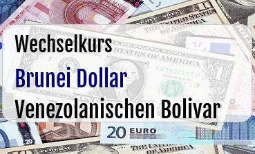 Brunei Dollar in Venezolanischen Bolivar