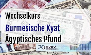 Burmesische Kyat in Ägyptisches Pfund