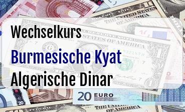Burmesische Kyat in Algerische Dinar