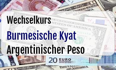 Burmesische Kyat in Argentinischer Peso