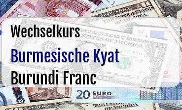 Burmesische Kyat in Burundi Franc
