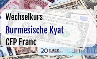 Burmesische Kyat in CFP Franc