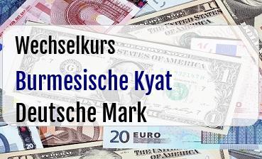 Burmesische Kyat in Deutsche Mark