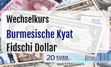 Burmesische Kyat in Fidschi Dollar