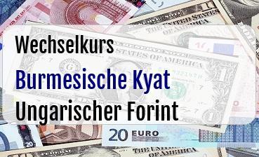 Burmesische Kyat in Ungarischer Forint