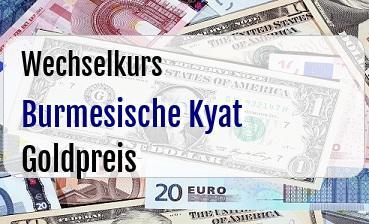 Burmesische Kyat in Goldpreis