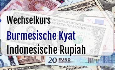 Burmesische Kyat in Indonesische Rupiah