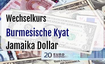 Burmesische Kyat in Jamaika Dollar