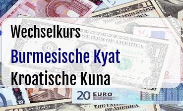 Burmesische Kyat in Kroatische Kuna