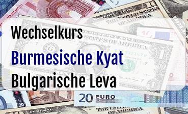 Burmesische Kyat in Bulgarische Leva